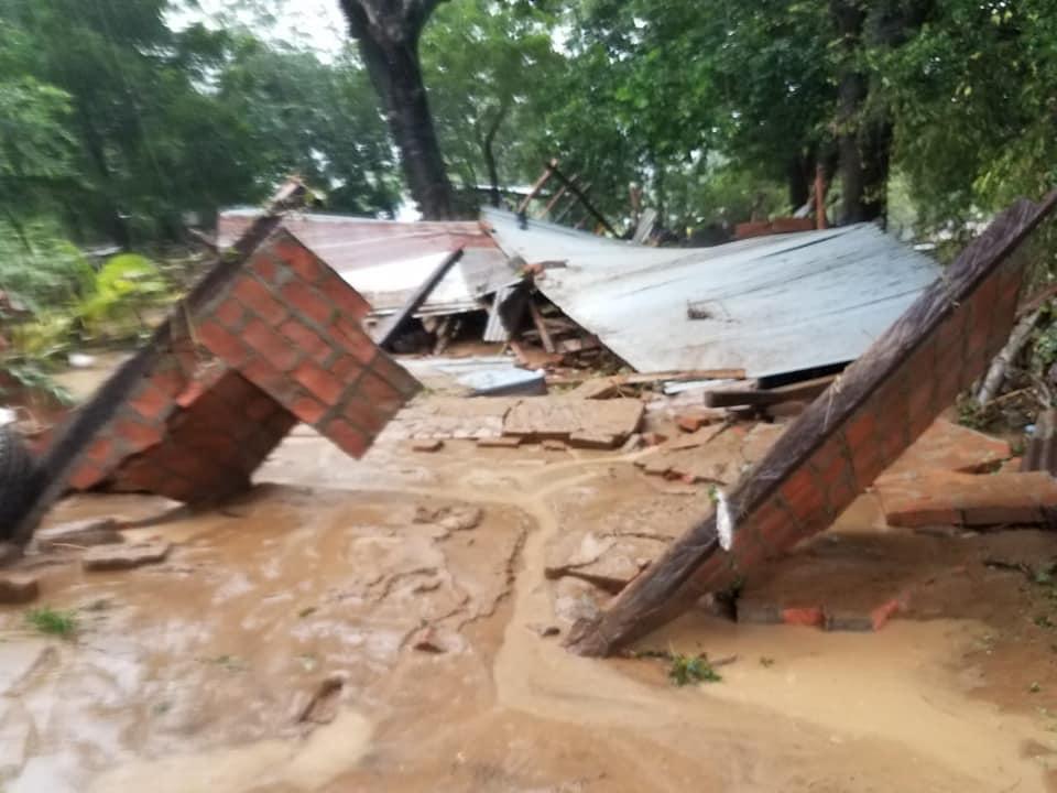 hurricane Iota damage - Popoyo, Nicaragua